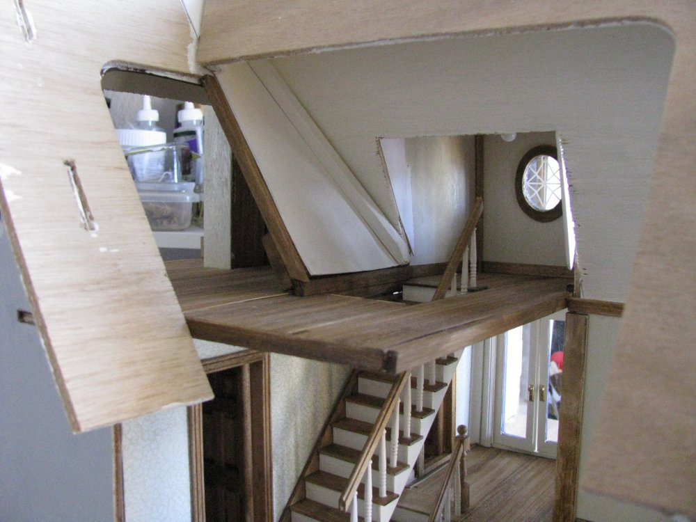 Miniature Staircase Stonetower : Getting the roof on fairfield jenn s mini worlds a