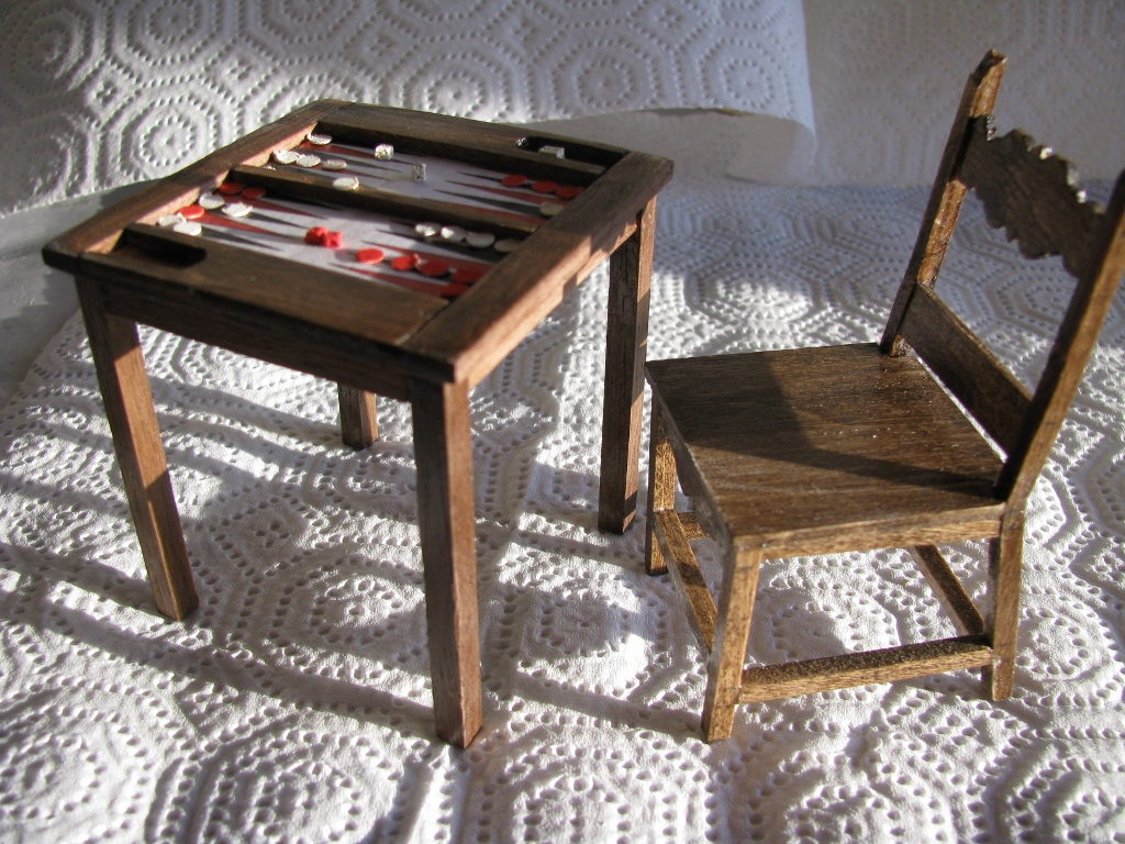 mini doll furniture. New Projects\u2013Backgammon Table And Mexican Chair Mini Doll Furniture