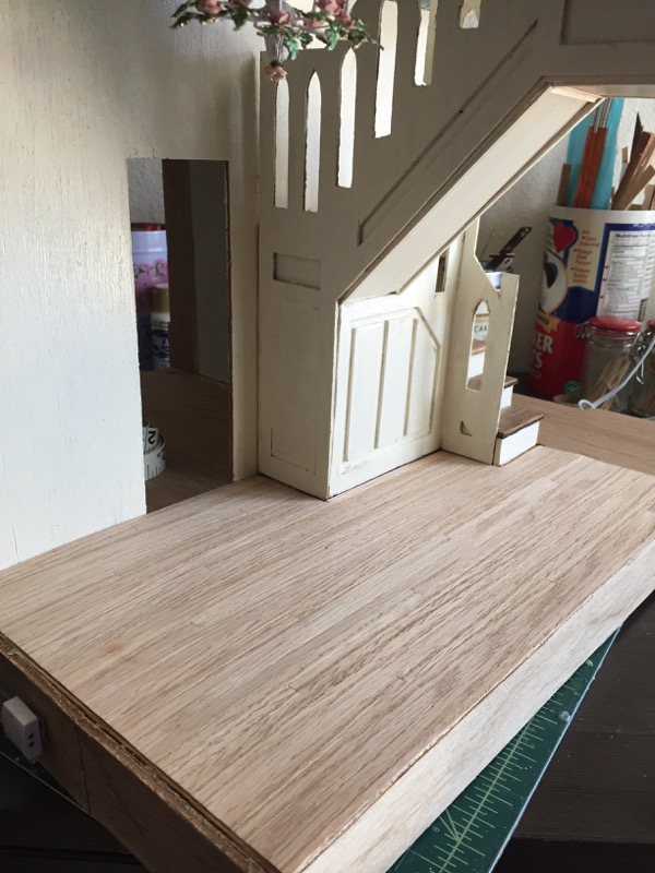 Once The Lights Downstairs Were Finished, I Could Add The Flooring To The  Staircase Hall. Now, I Can Go On To Putting In The Railings And Posts Of  The ...