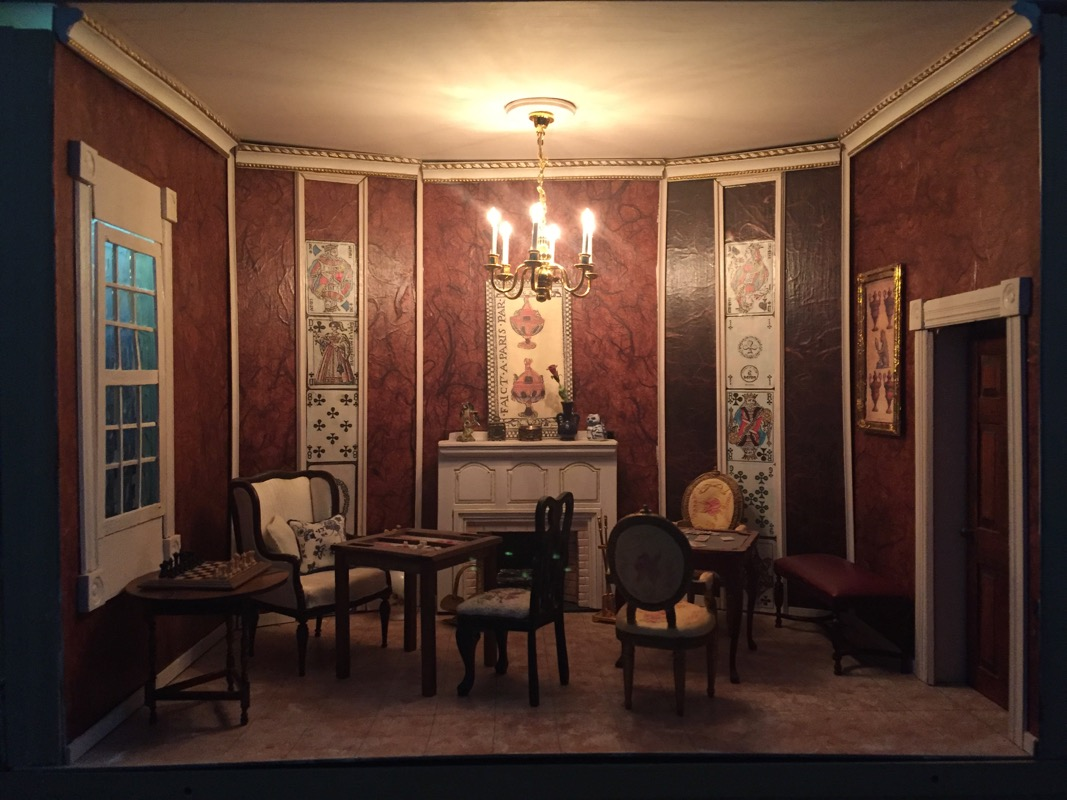 I built this games room a while back–the story is: A room in an old  apartment in Paris on an upper floor, either in the 18th century or owned  by someone who ...